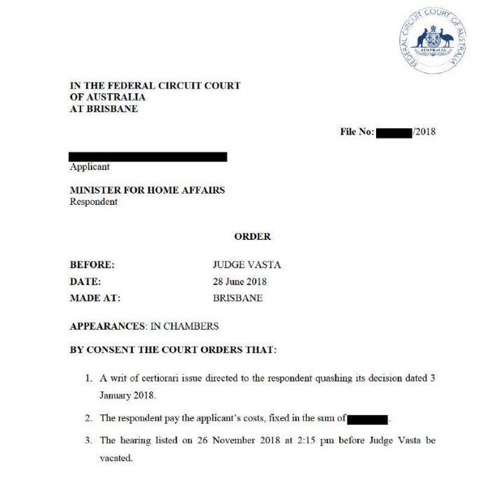 FCCA - Judicial Review Decision